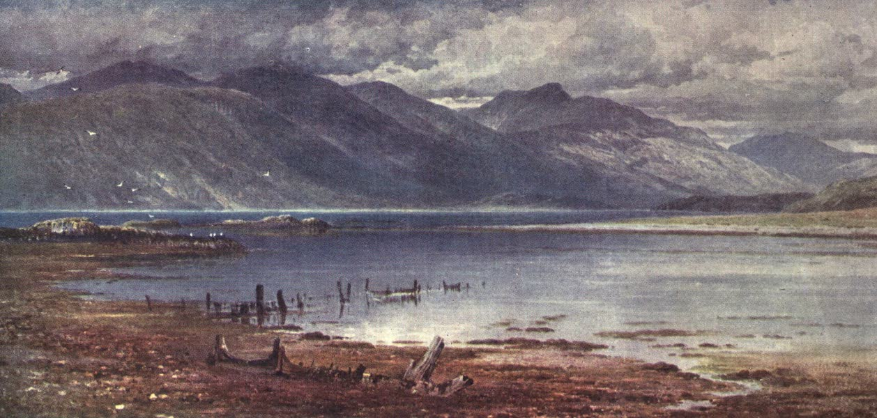 Bonnie Scotland Painted and Described - The Morven Hills from Appin, Argyllshire (1912)