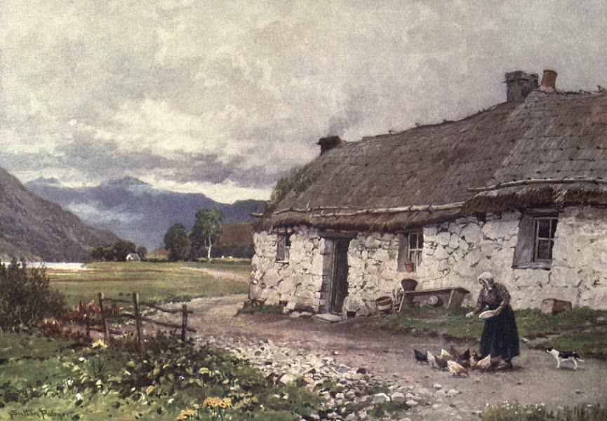 Bonnie Scotland Painted and Described - A Croft near Loch Etive, Argyllshire (1912)
