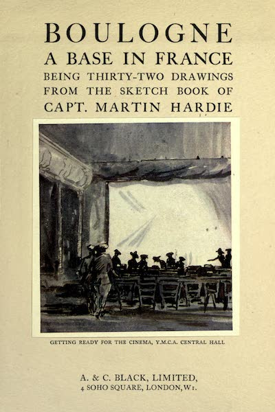 Boulogne, a Base in France - Title Page - Getting Ready for the Cinema (1918)