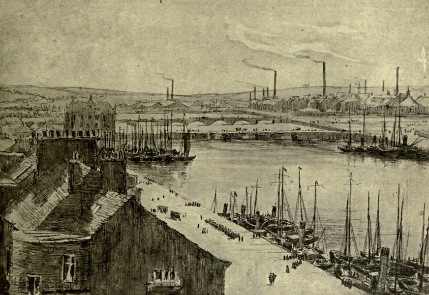 Boulogne, a Base in France - The Quay and Harbour, Looking South (1918)