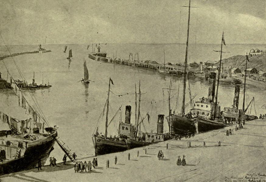 Boulogne, a Base in France - The Quai Gambetta and Harbour, Looking Seawards (1918)