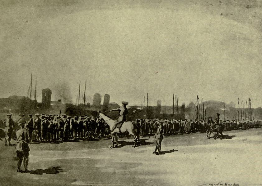 Boulogne, a Base in France - Marshalling Troops on the Quay (1918)