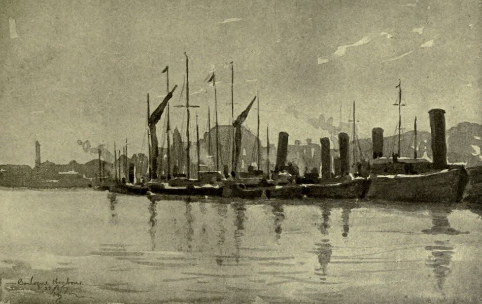 Boulogne, a Base in France - The Harbour near the Louvre Hotel (1918)