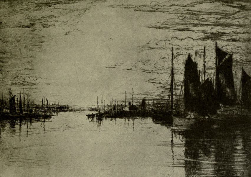 Boulogne, a Base in France - The Bassin Loubet : Sunset (1918)