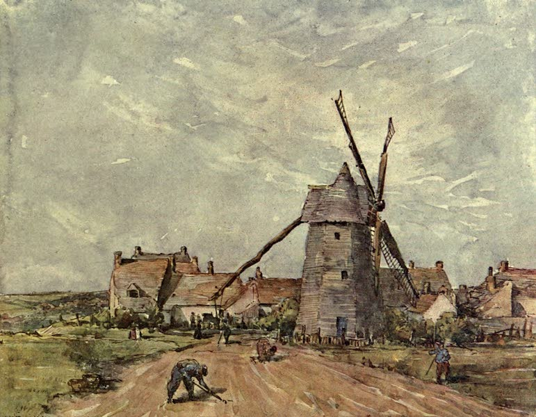 Boulogne, a Base in France - The Old Mill at Henriville (1918)