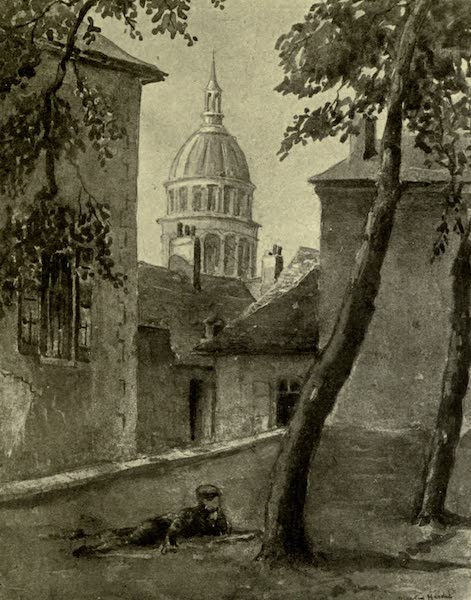 Boulogne, a Base in France - A Glimpse of the Cathedral from the Ramparts (1918)