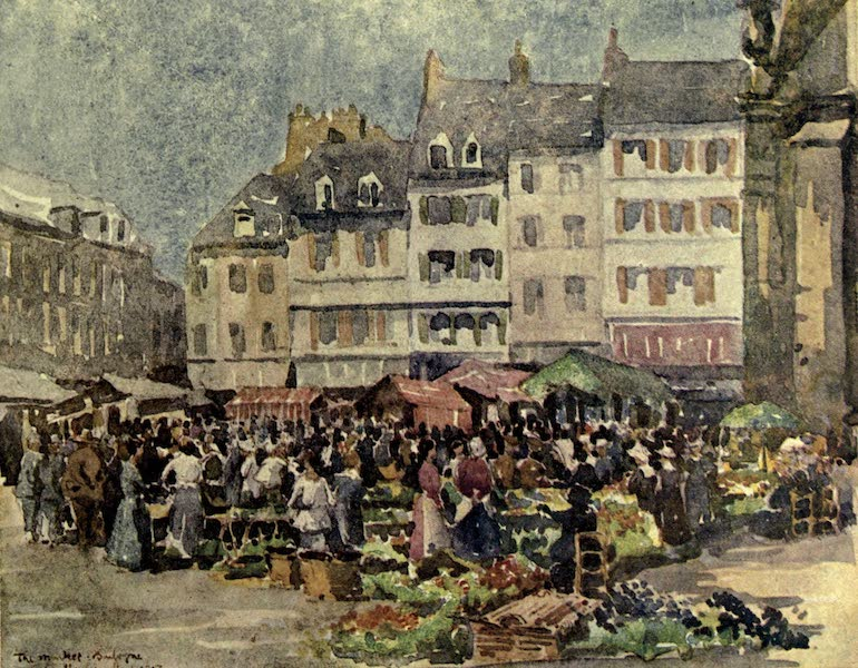 Boulogne, a Base in France - A Summer Day in the Market (1918)