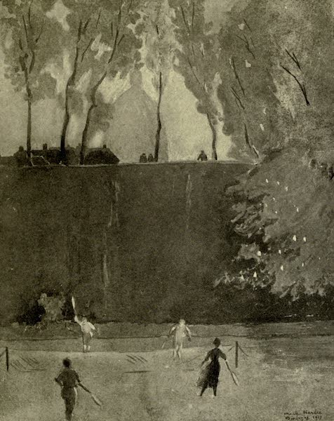 Boulogne, a Base in France - The Tennis Courts below the Ramparts (1918)