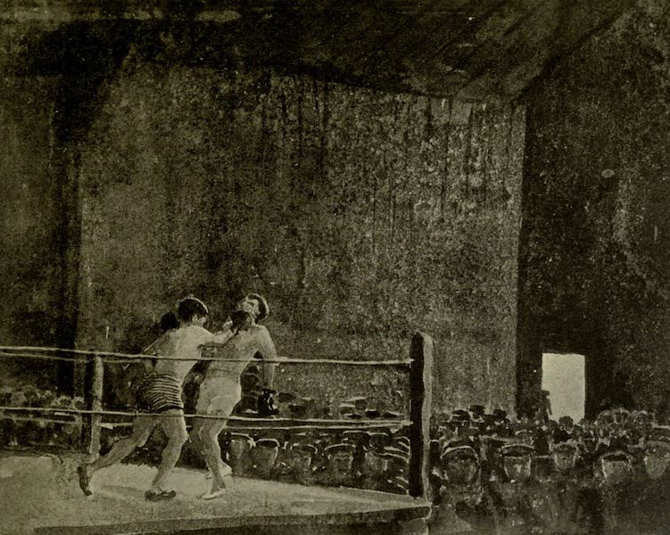 Boulogne, a Base in France - A Boxing Match in the Y.M.C.A. Hut, Henriville (1918)
