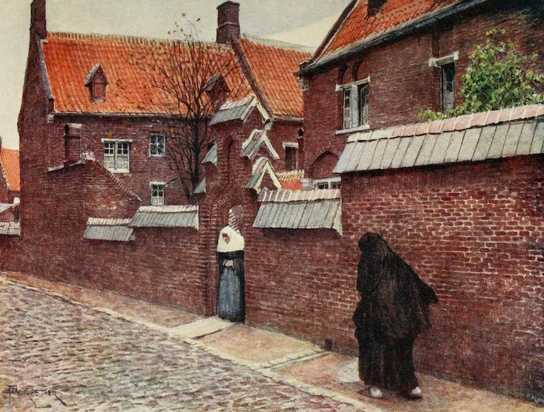 Brabant and East Flanders, Painted and Described - Beguinage de Mont St. Amand, Ghent (1907)