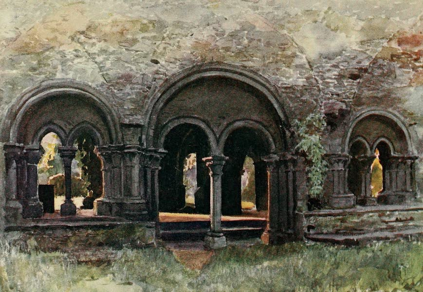 Brabant and East Flanders, Painted and Described - The Ruins of the Cloisters of the Abbey of St. Bavon, Ghent (1907)