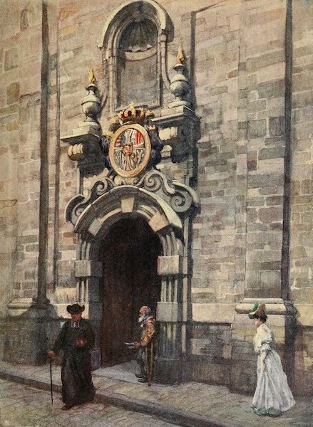 Brabant and East Flanders, Painted and Described - Entrance to the Old Church of the Carmelites, Brussels (1907)