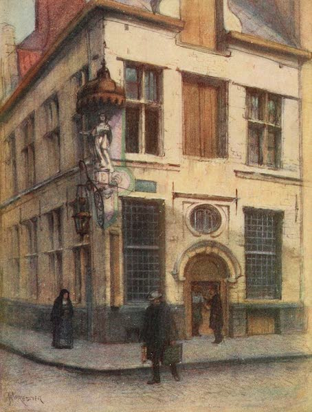 Brabant and East Flanders, Painted and Described - Old Houses in the Rue de l'Empereur, Antwerp (1907)