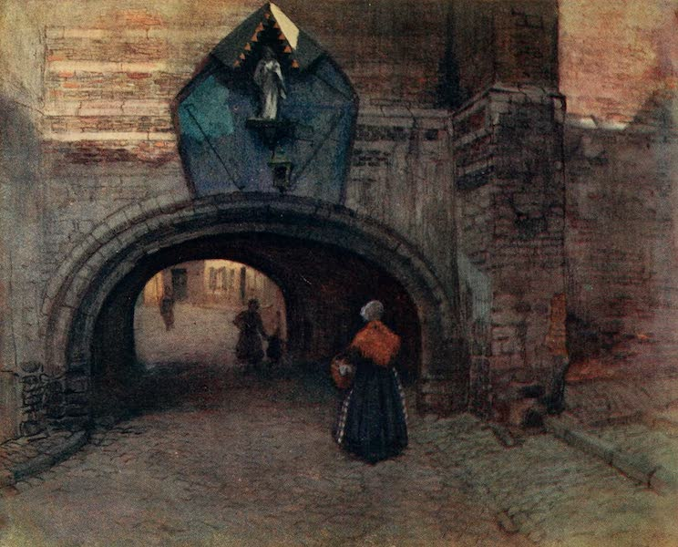 Brabant and East Flanders, Painted and Described - Archway under the Vieille Boucherie, Antwerp (1907)