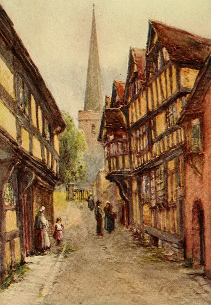 British Highways And Byways From A Motor Car - Old Half-timbereid Houses in Ledbury (1908)