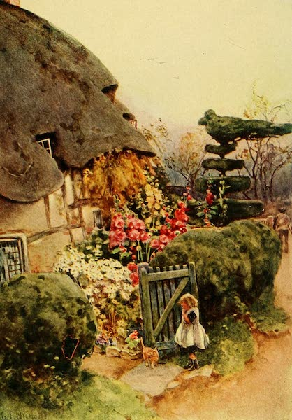 British Highways And Byways From A Motor Car - Old Cottage at Norton, near Evesham (1908)