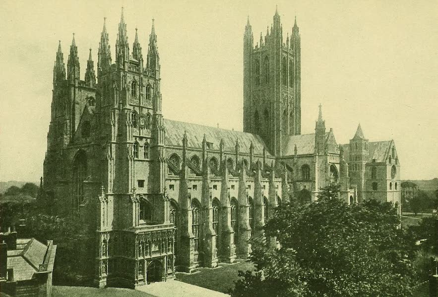 British Highways And Byways From A Motor Car - Cathedral, Canterbury (1908)