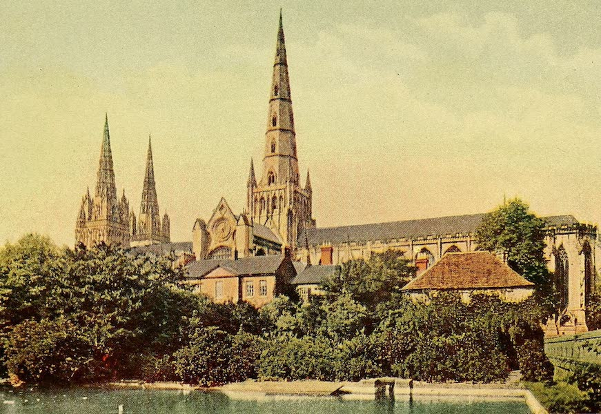British Highways And Byways From A Motor Car - The Three Spires of Lichfield (1908)