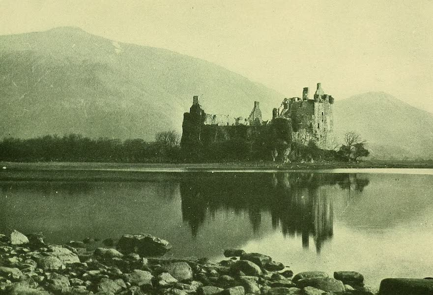 British Highways And Byways From A Motor Car - Kilchurn Castle, Loch Awe (1908)