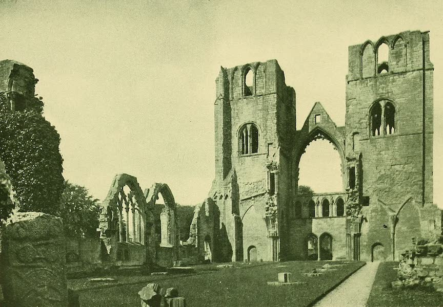 British Highways And Byways From A Motor Car - Towers of Elgin Cathedral, North Scotland (1908)