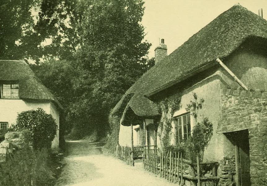 British Highways And Byways From A Motor Car - Old Cottage at Cockington (1908)
