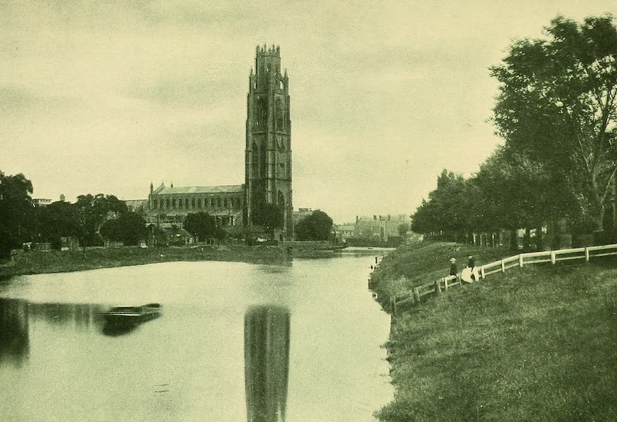 British Highways And Byways From A Motor Car - St. Botolph's Church from the River, Boston (1908)