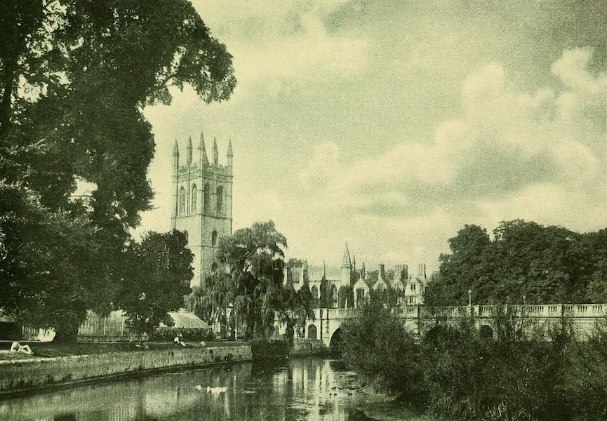 British Highways And Byways From A Motor Car - Distant View of Magdalen Tower, Oxford (1908)