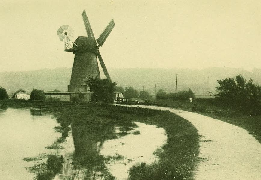 British Highways And Byways From A Motor Car - Windmill near Arundel, Sussex (1908)