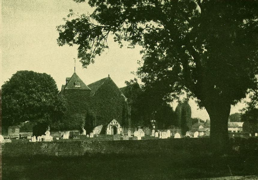 British Highways And Byways From A Motor Car - Winchelsea Church and Elm Tree (1908)