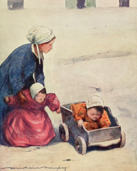 Brittany by Mortimer Menpes - Minding the Babies (1912)