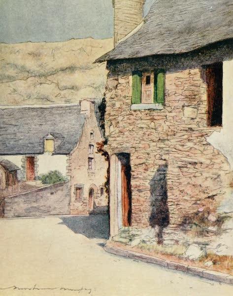 Brittany by Mortimer Menpes - At Rochefort-en-Terre (1912)