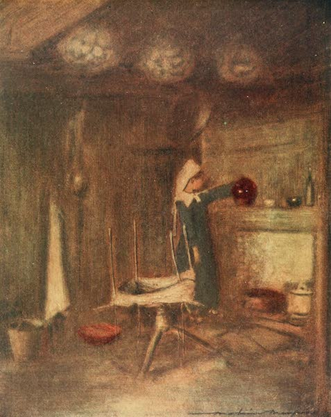 Brittany by Mortimer Menpes - A Cottage Home (1912)