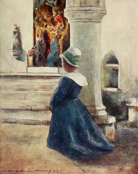 Brittany by Mortimer Menpes - In Church (1912)