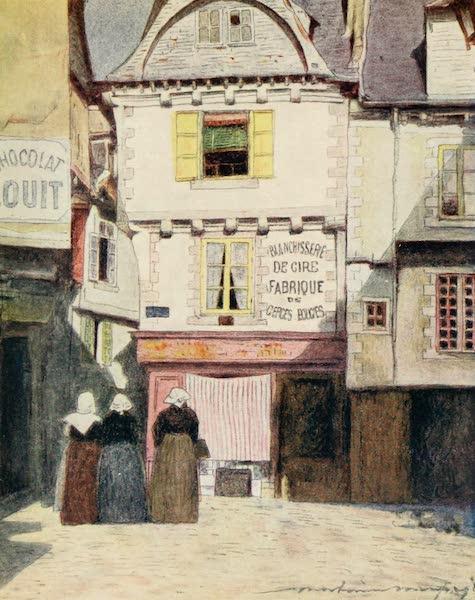 Brittany by Mortimer Menpes - Place Henri Quatre, Vannes (1912)