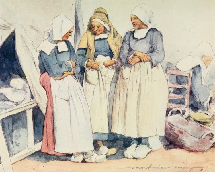 Brittany by Mortimer Menpes - Gossips (1912)
