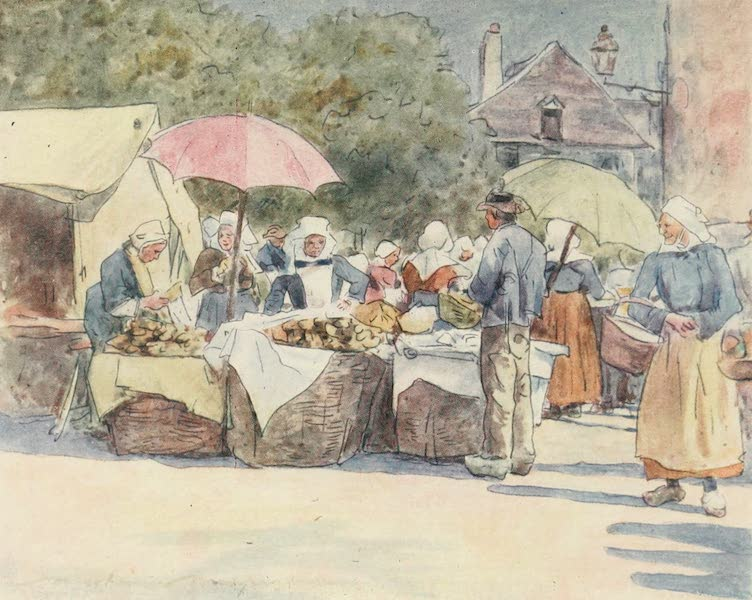 Brittany by Mortimer Menpes - Bread Stalls (1912)