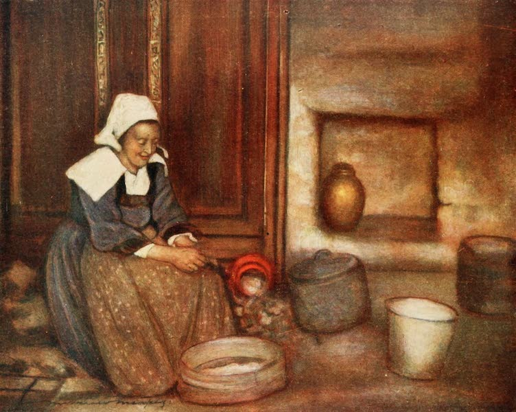 Brittany by Mortimer Menpes - In a Breton Kitchen (1912)