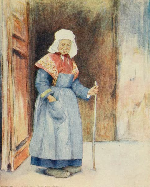 Brittany by Mortimer Menpes - In the Porch of the Cathedral, Quimper (1912)
