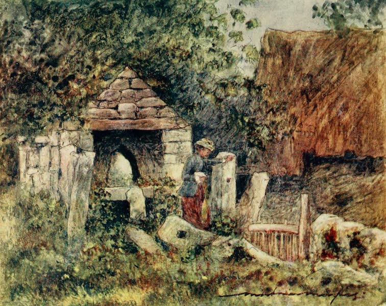Brittany by Mortimer Menpes - By the Side of a Farm (1912)