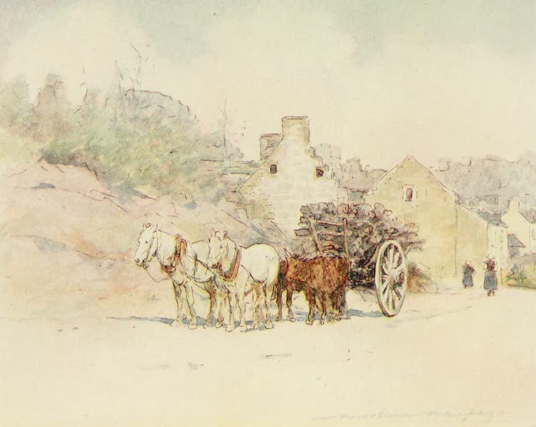 Brittany by Mortimer Menpes - On the Road to Bannalec (1912)