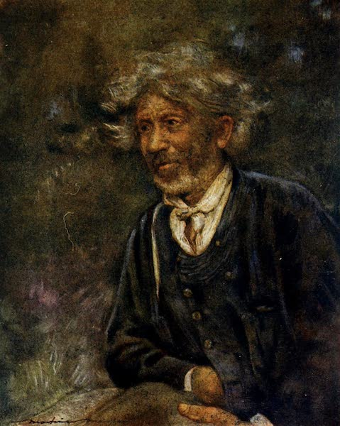 Brittany by Mortimer Menpes - A Beggar (1912)