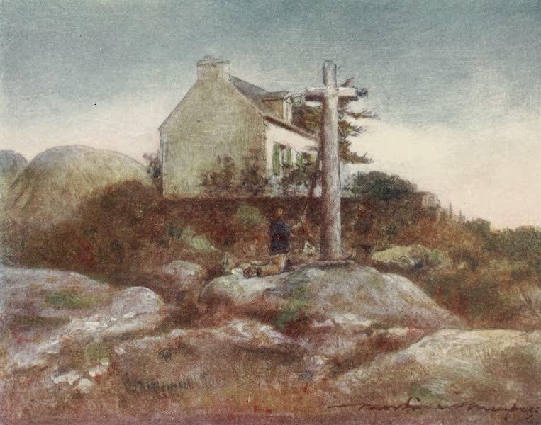 Brittany by Mortimer Menpes - A Wayside Shrine, Huelgoat (1912)