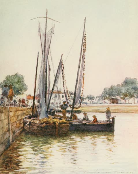 Brittany by Mortimer Menpes - Fishing Boats, Concarneau (1912)