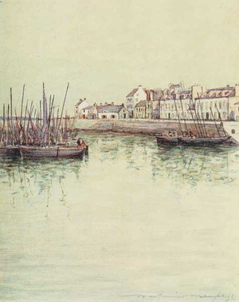 Brittany by Mortimer Menpes - Concarneau Harbour (1912)