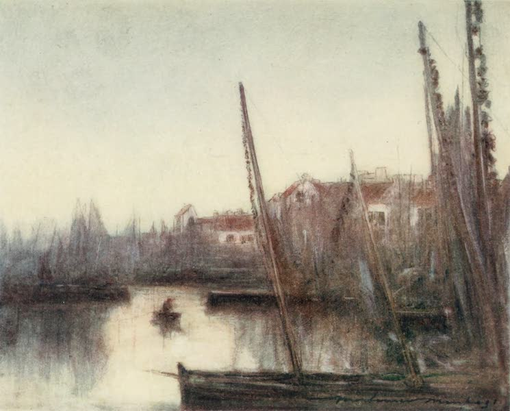 Brittany by Mortimer Menpes - The Sardine Fleet (1912)