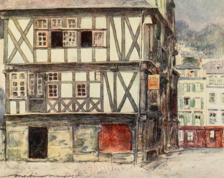 Brittany by Mortimer Menpes - Mediaeval House at Morlaix (1912)