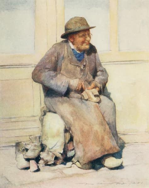 Brittany by Mortimer Menpes - The Village Cobbler (1912)