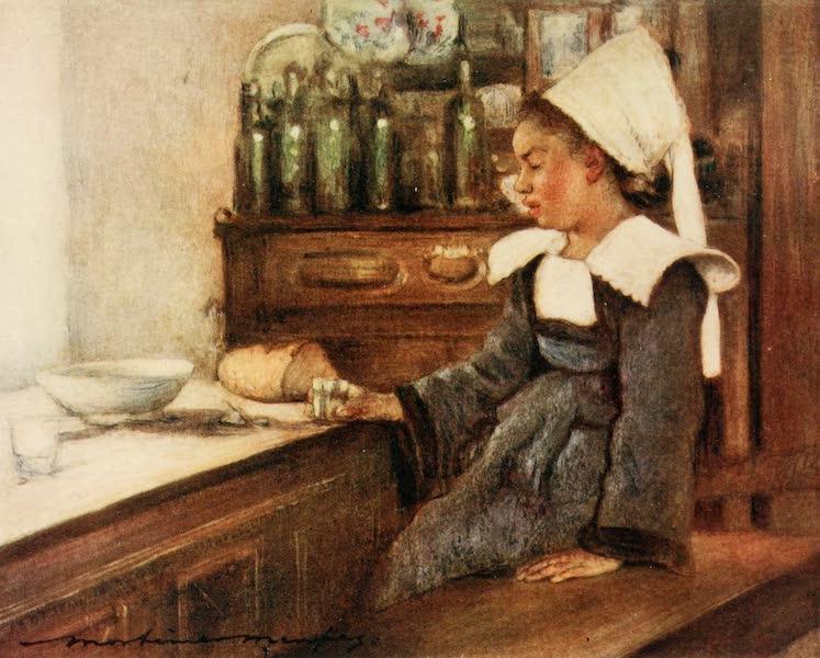 Brittany by Mortimer Menpes - Dejeuner (1912)