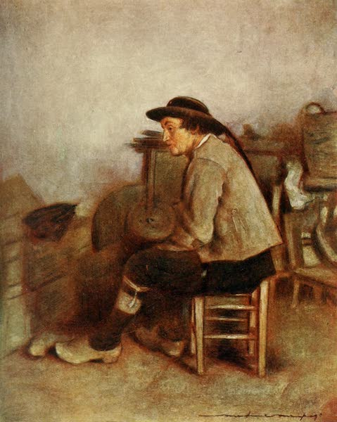 Brittany by Mortimer Menpes - A Farm Labourer (1912)