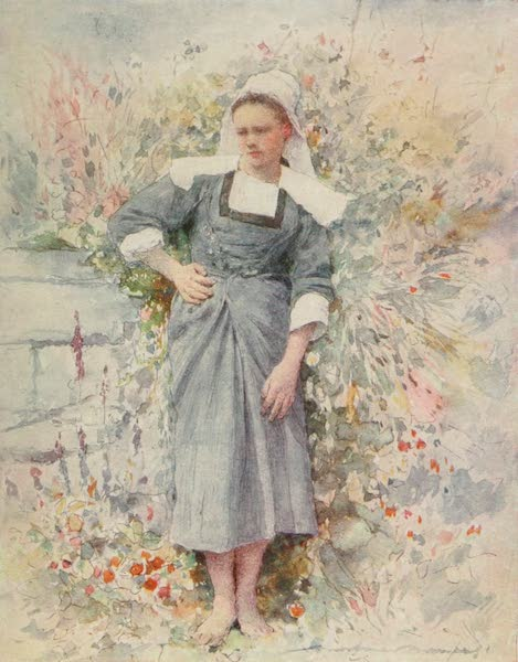 Brittany by Mortimer Menpes - La Petite Marie (1912)
